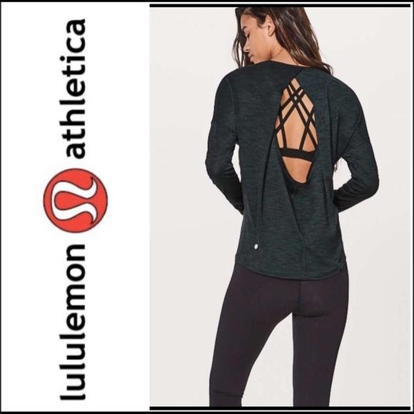 lululemon athletica Tops - Lululemon Get Set Long Sleeve Heathered Top